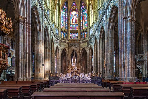 Interiors of the St. Vitus Cathedral