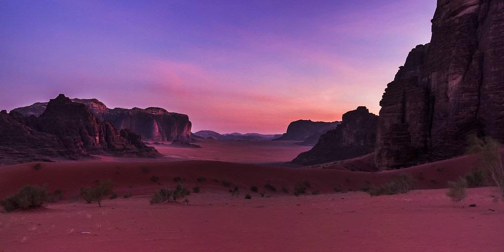 Sunset at Wadi Rum Desert, Jordan