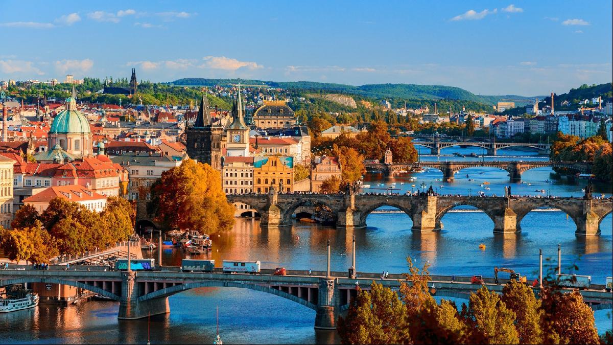 Prague by the Charles Bridge