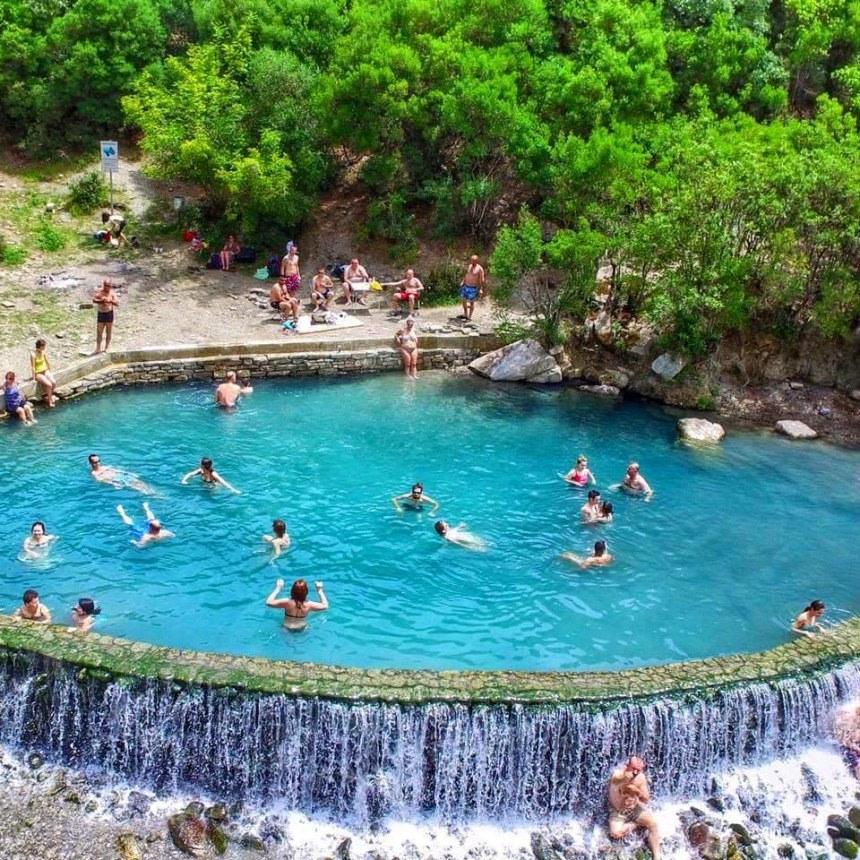 Enjoy the thermal waters at Permet