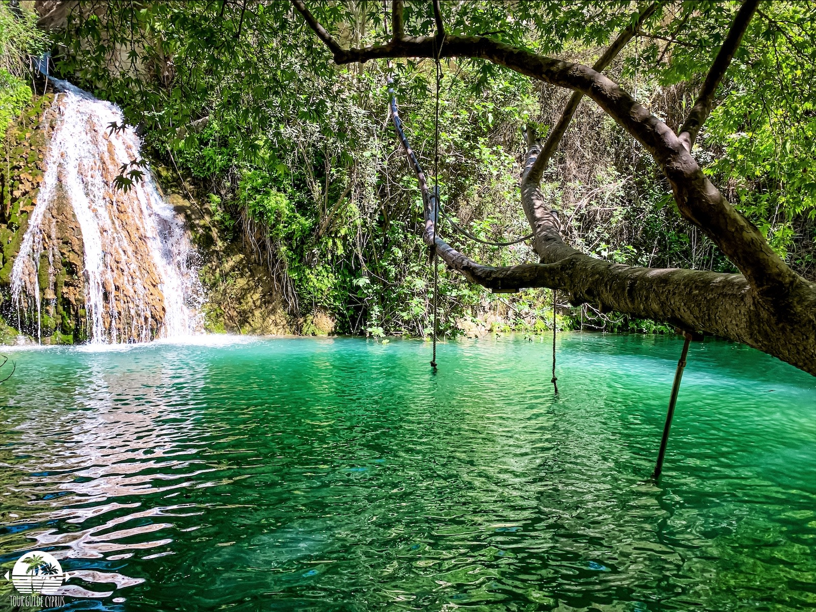 Relax at the  Adonis Baths Waterfall in Paphos