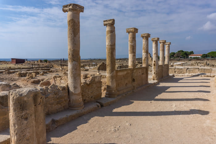 Explore the ruins at the Kato Paphos in Paphos
