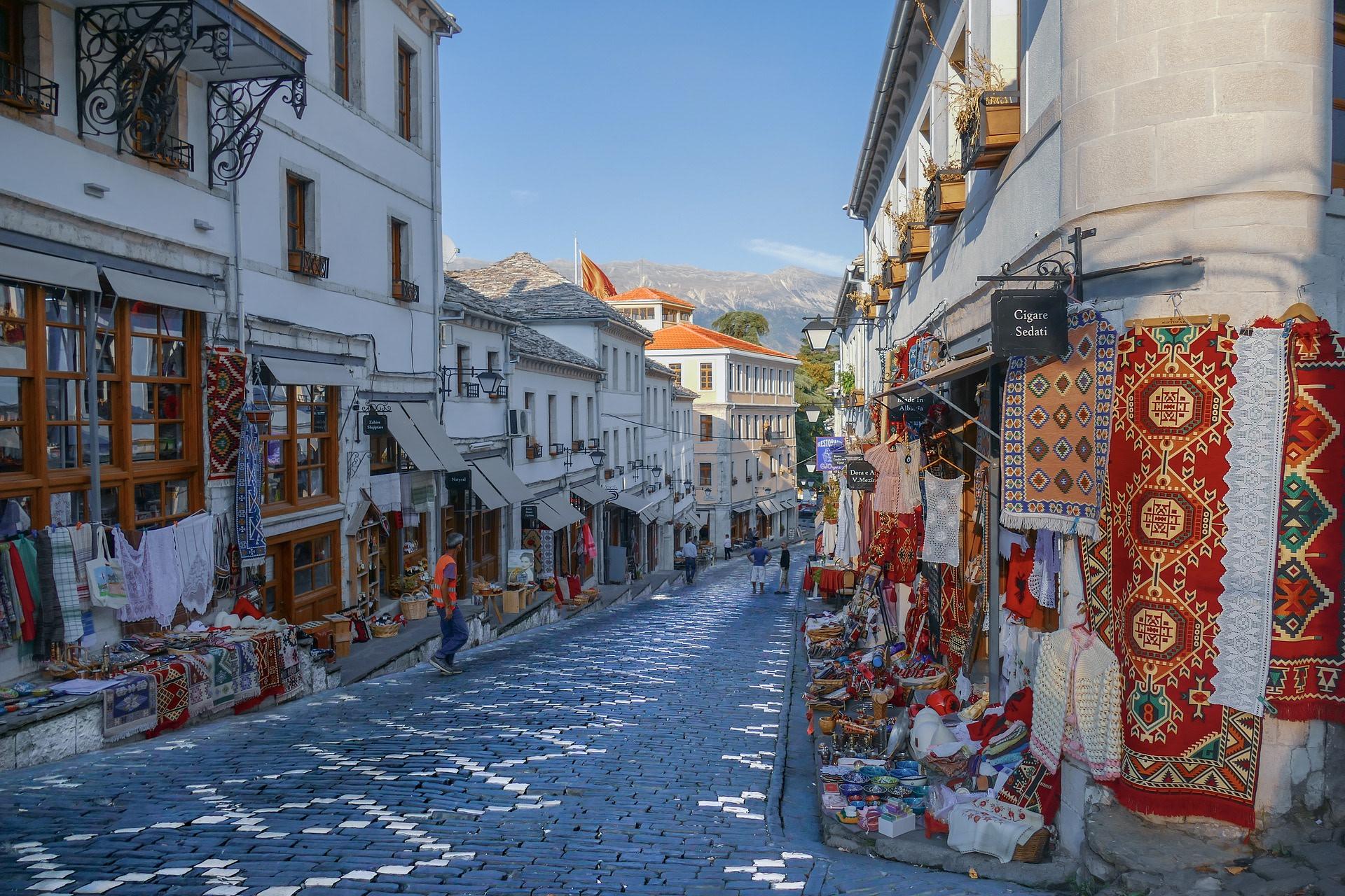 Stroll through the streets of Gjirokaster