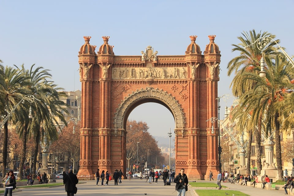 Triumph Arc in Barcelona, Spain