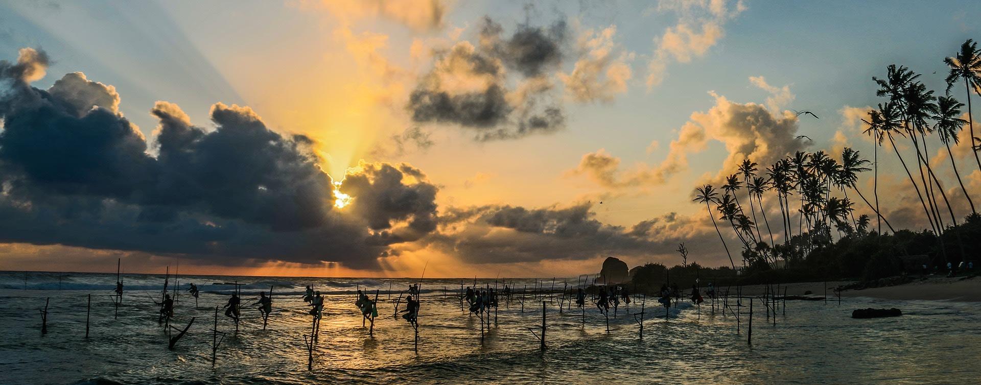 Admire the stunning sunsets at Mirissa Beach