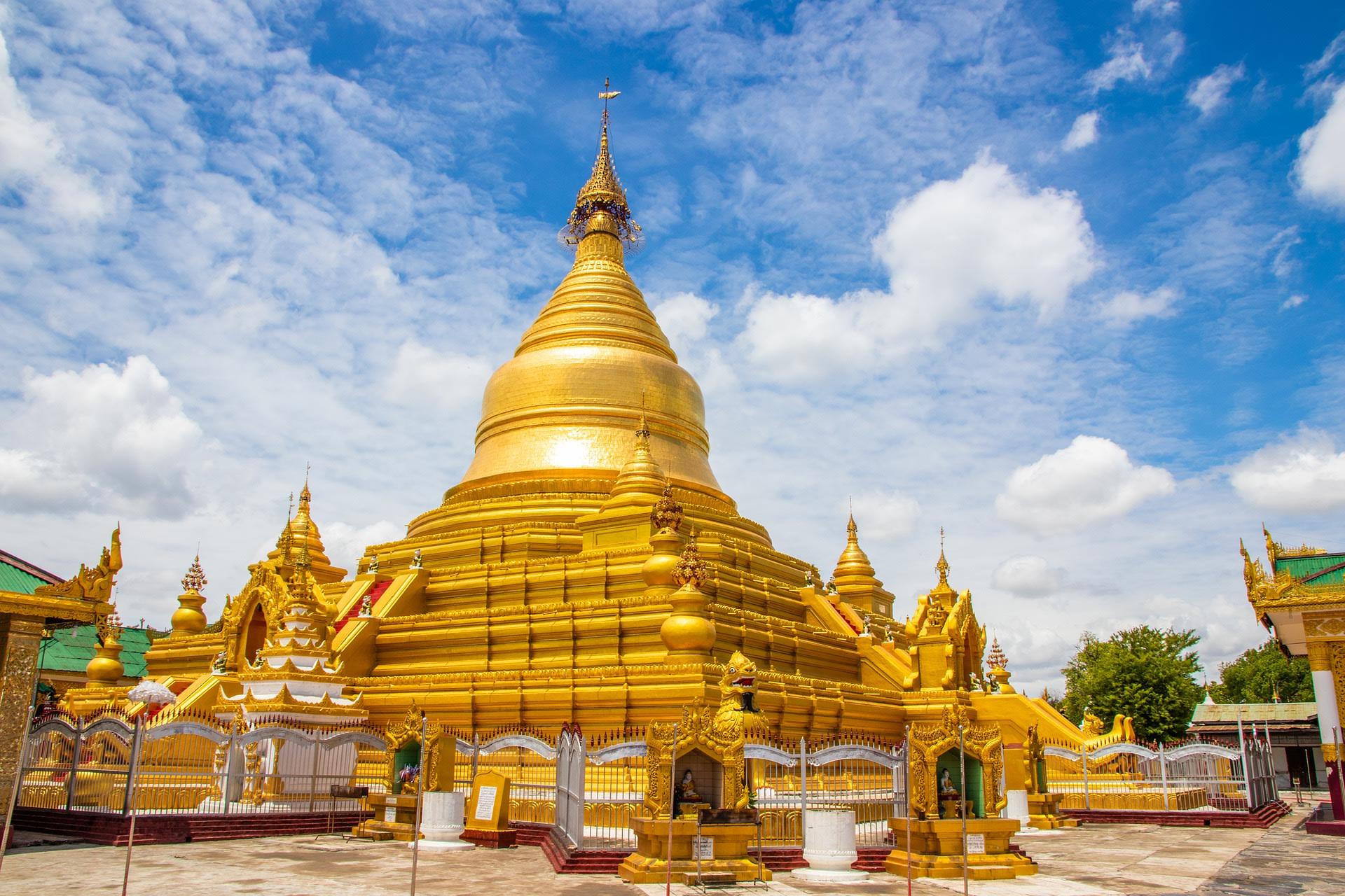 Admire the Kuthodaw Pagoda