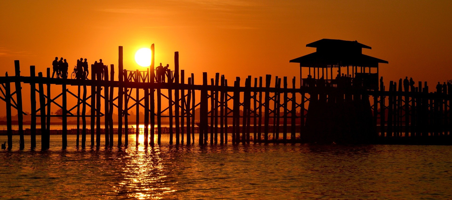 Witness a Stunning Sunset from U Pein Bridge