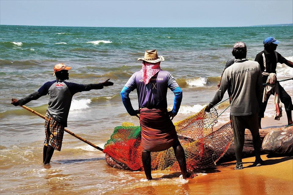 Fishing village in Negombo, Sri Lanka