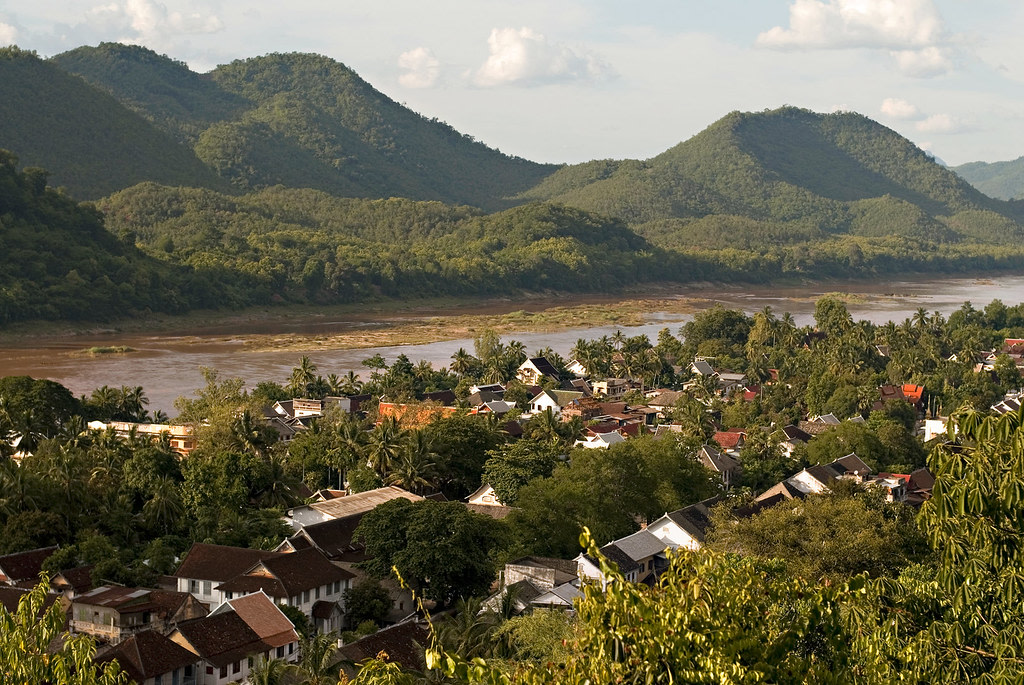 View of Mekong River from Mount Phousi