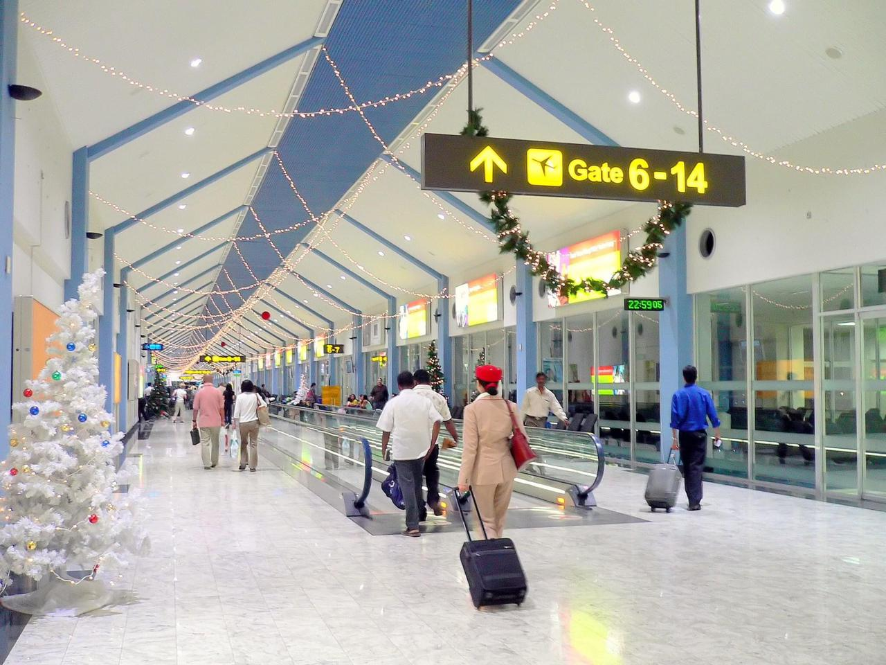 Land at the airport in Colombo