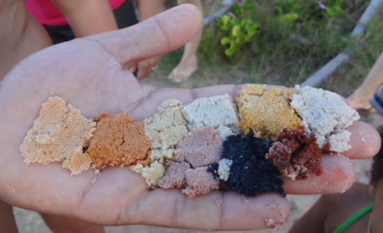 Colourful Sand of Morro Branco Cliffs, Brazil