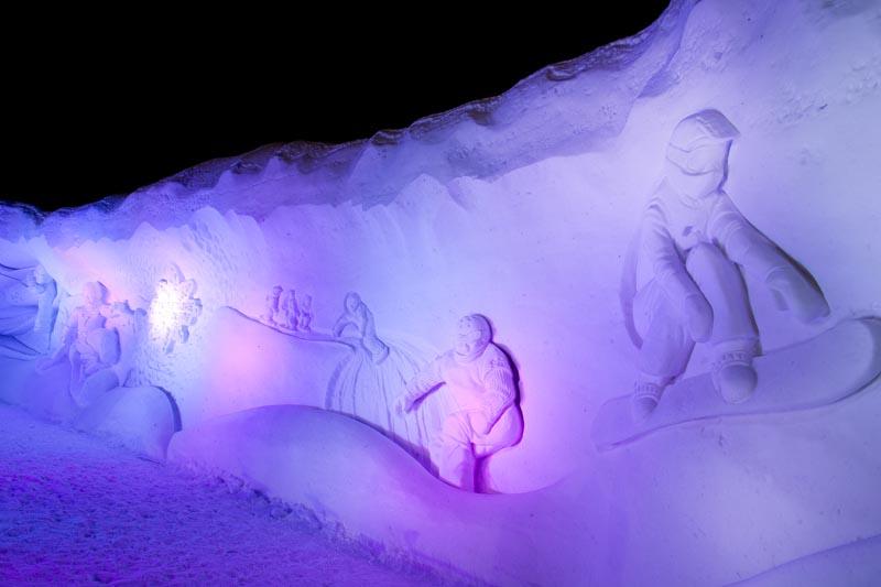 domaine des flocons sculptures neige