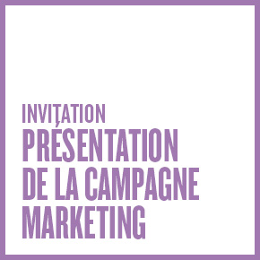 Invitation - Présentation de la campagne marketing