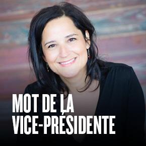 MOT DE LA VICE-PRÉSIDENTE