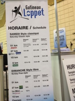 Horaire Loppet