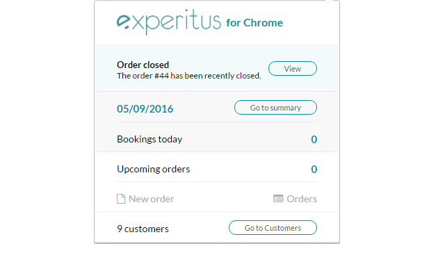 Experitus Dashboard in your Chrome