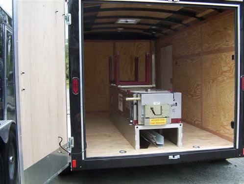 gutter machine trailer