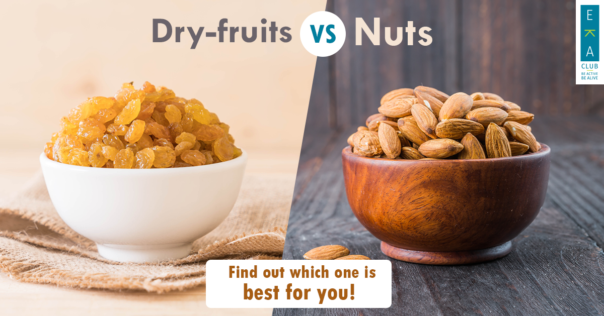 NUTS VS DRY FRUITS