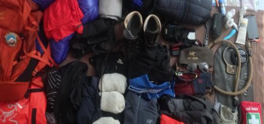 Kilimandscharo Packliste - Ausrüstung