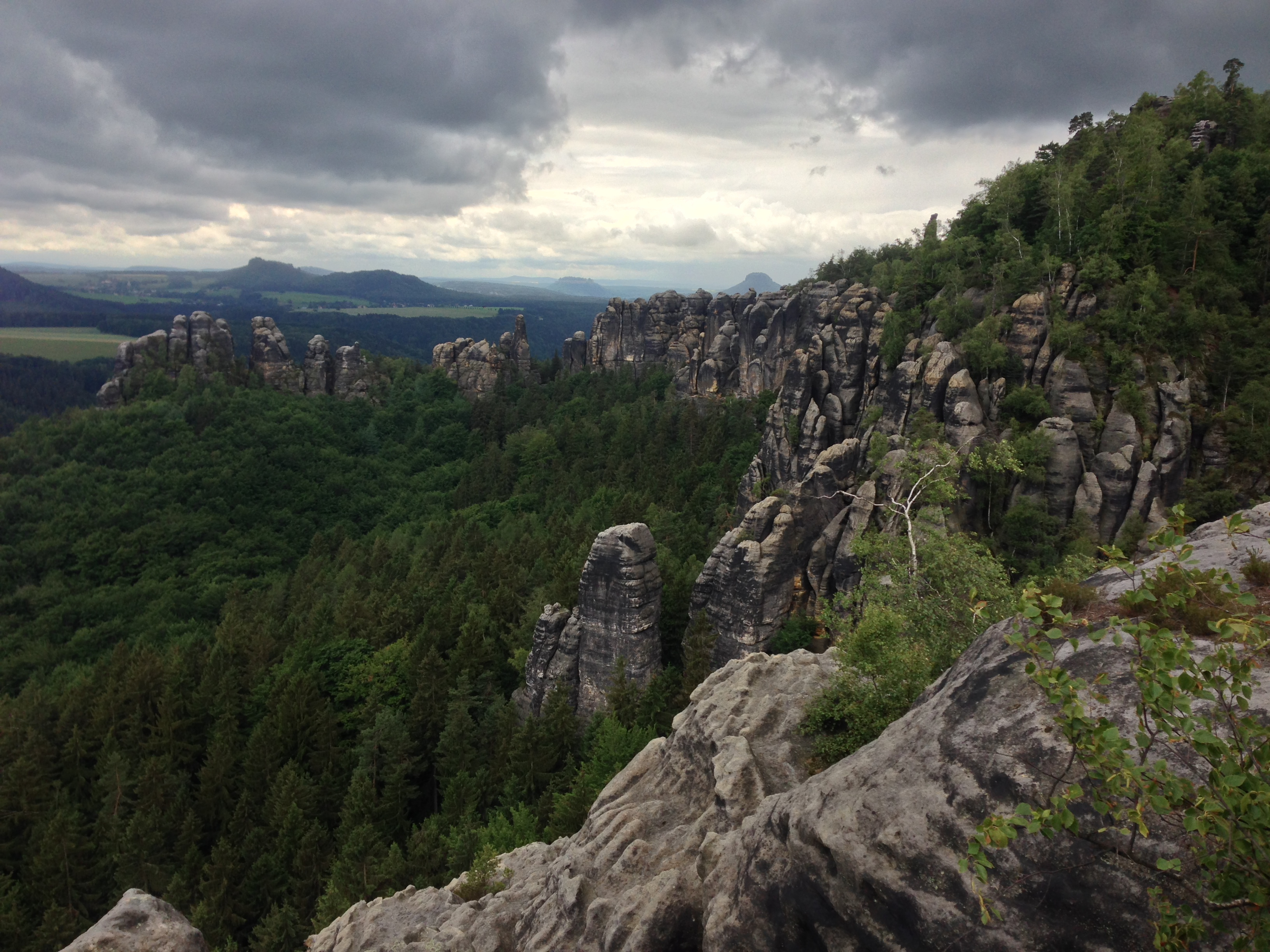 Elbe Sandstone Mountains Hike Malerweg- Nice View from Schrammsteine