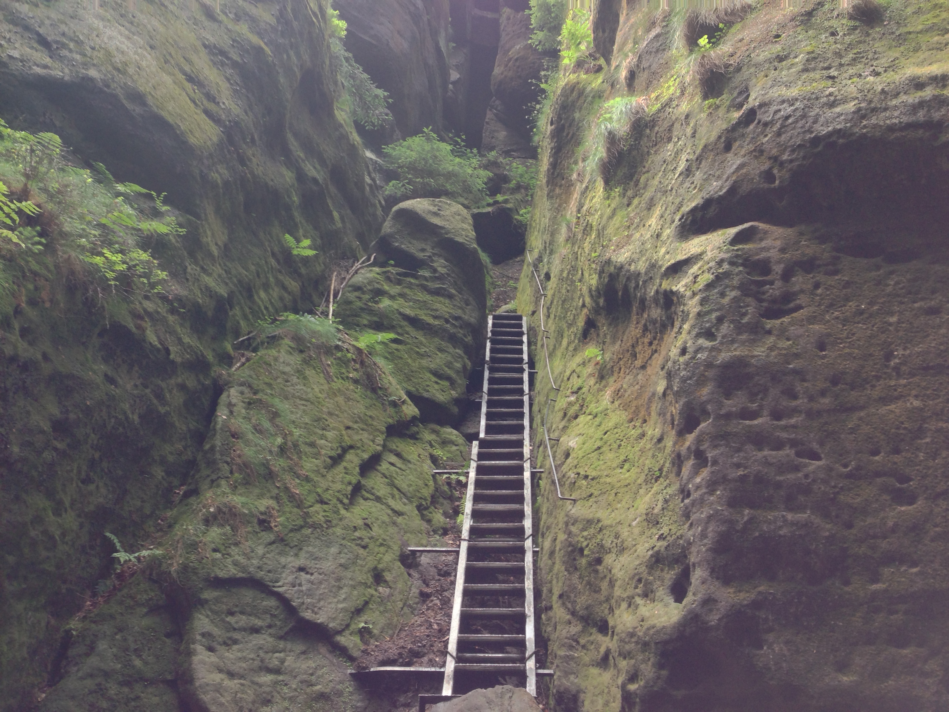 Elbe Sandstone Mountains Hike Malerweg- Hell Rise