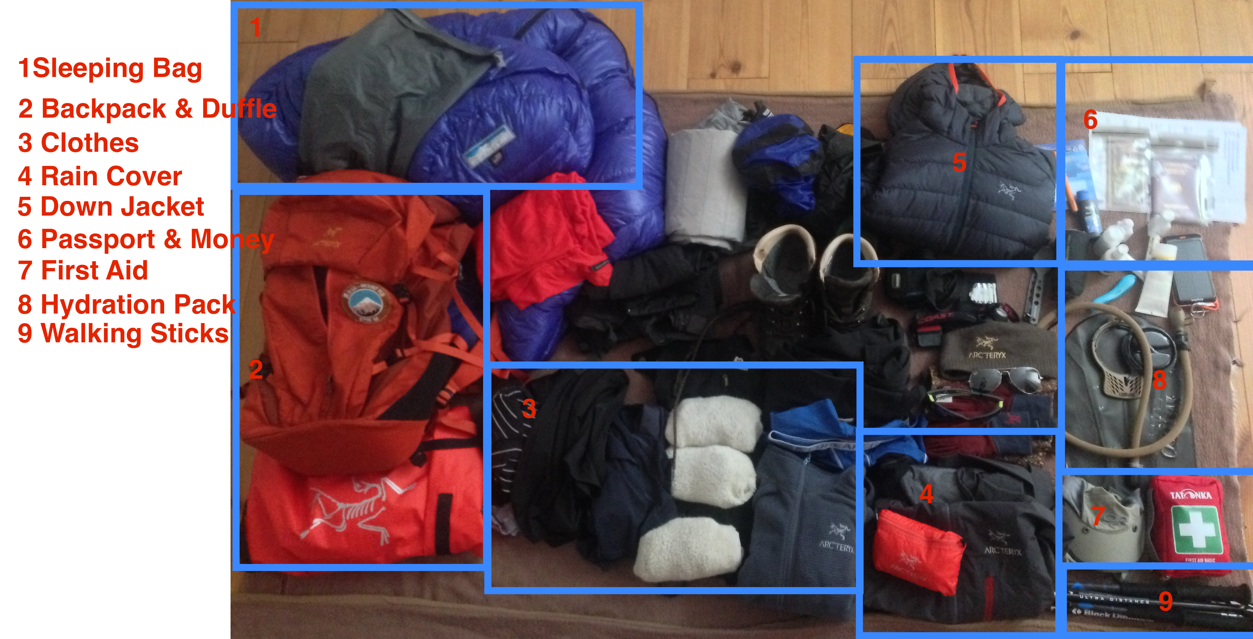 Kilimanjaro Preparations - Equipment