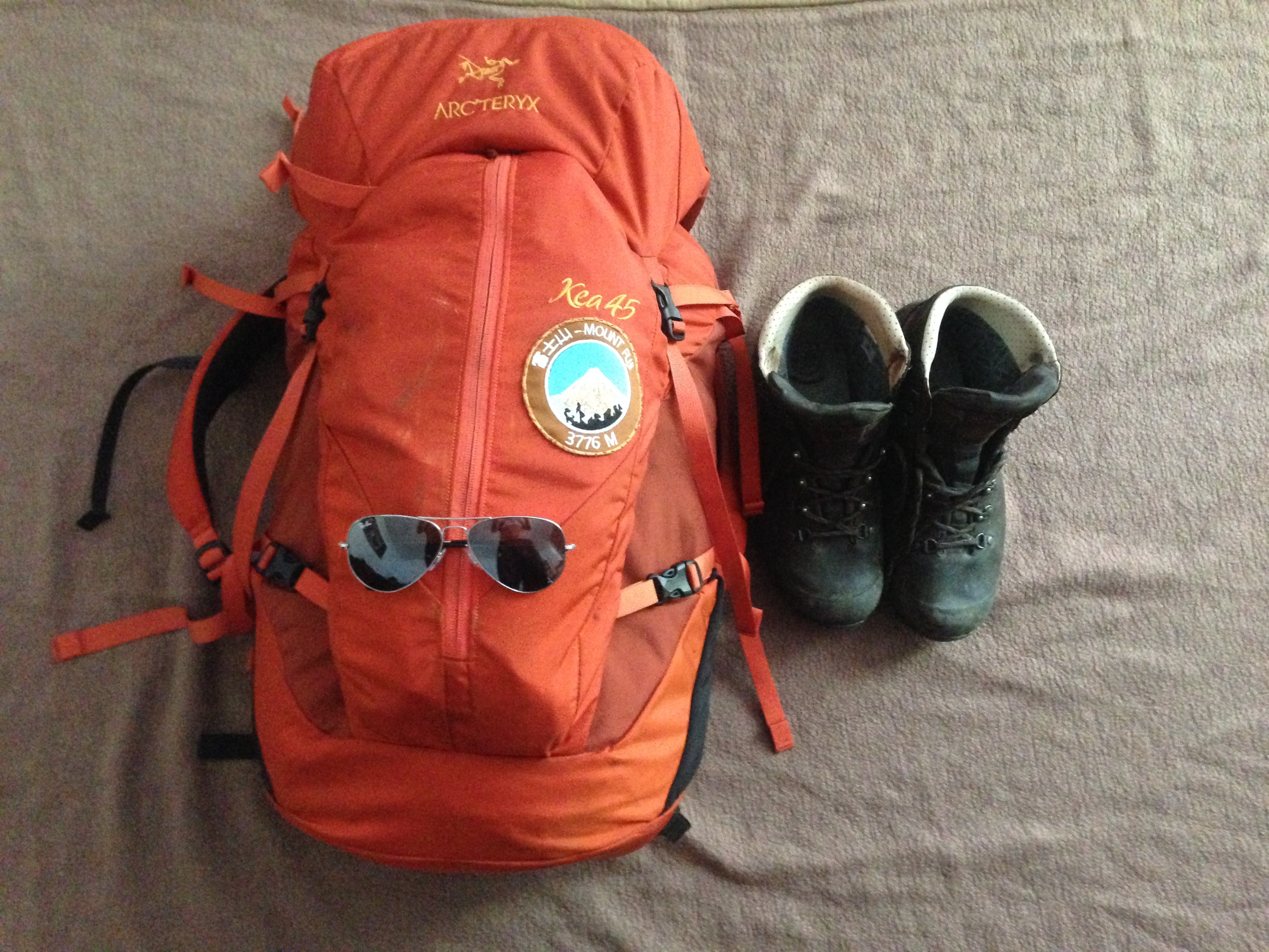 Kilimanjaro Packing List - Equipment packed