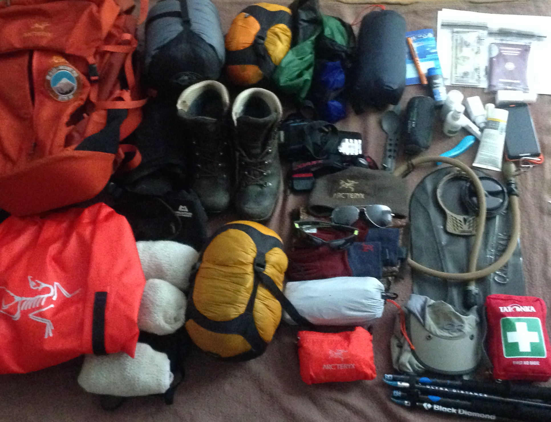 Kilimanjaro Preparations - Equipment compressed