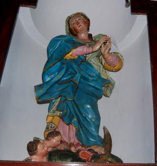Bivongi; Santuario di Mamma Nostra, statua lignea dell'Immacolata