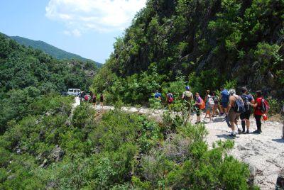 Marmarico (Bivongi); Percorso per la cascata del Marmarico