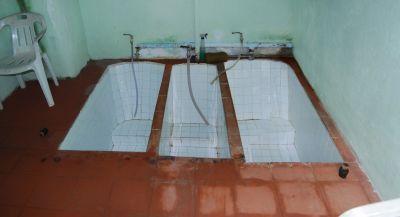 Bagni di Guida (Bivongi); Vasche dello stabilimento termale del 1850