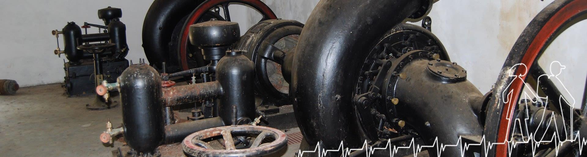 Bagni di Guida (Bivongi); Interno della centrale idroelettrica della società L'Avvenire