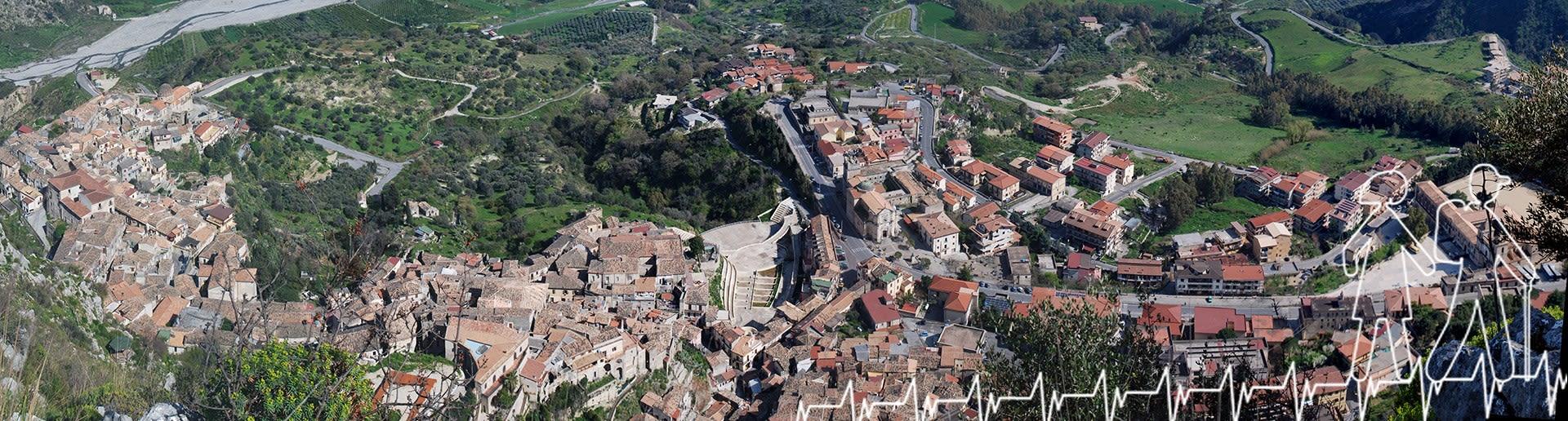 Monte Consolino (Stilo); Panorama su Stilo