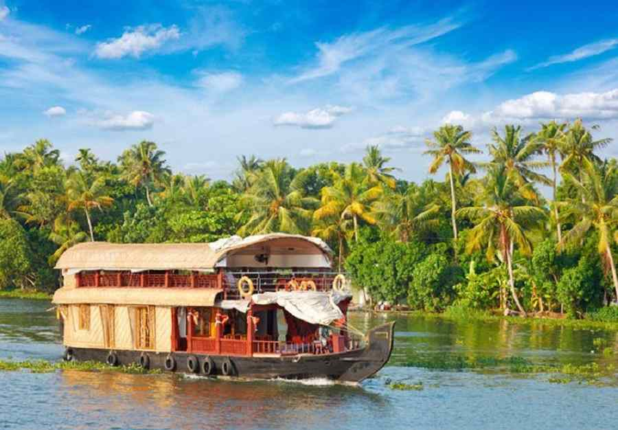 Honeymoon in Kerala Hills & Backwaters; 6 Days Package