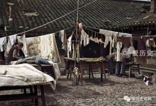 旧上海贫民区上色彩照:住滚地龙的底层百姓 走出传奇的上海大亨