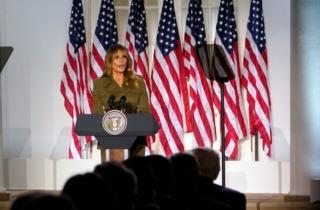 共和党全国代表大会上的梅拉尼娅