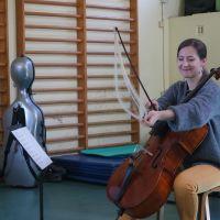 Duo Fortecello en concert scolaire