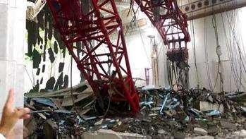 Innalillahi, Seperti inilah suasana saat crane di masjidil haram jatuh