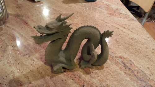 ExOne 3D printed dragon out of sand