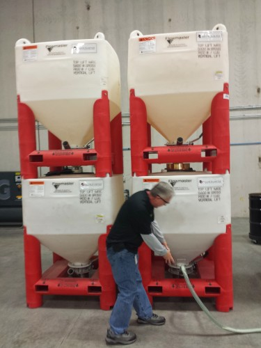 Giant material bins for ExOne sand 3D printer