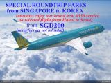 Special Roundtrip Fares from Singapore to Korea from SGD 200 from Vietnam Airlines