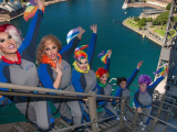 The Mardi Gras Climb from BridgeClimb Sydney