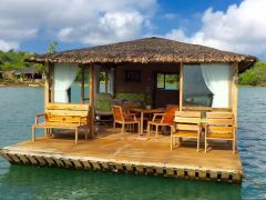Eco Saddle Floating Cottages on Lake Caliraya from Cottages and Many More