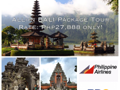 ALL-IN BALI PACKAGE TOUR via Piilippine Airlines!!! from Megumi Internationale