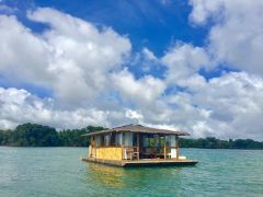 Aquascape Floating Suite on Lake Caliraya from Cottages and Many More