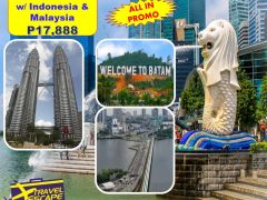4 DAYS 3 NIGHTS SINGAPORE/MALAYSIA/INDONESIA ALL-IN PACKAGE from Travel Escape Travel and Tours
