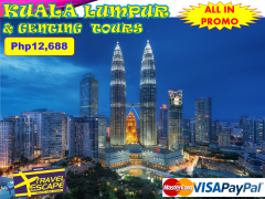 4 DAYS 3 NIGHTS  KUALA LUMPUR & GENTING DAY TOUR, MALAYSIA from Travel Escape Travel and Tours