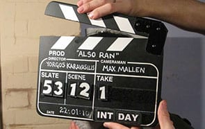 Image of a clapper board