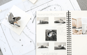Student maquette and sketchbooks