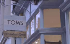 Read more about TOMS - one for one shop window project